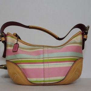 Coach Hampton Stripe Soho Bag